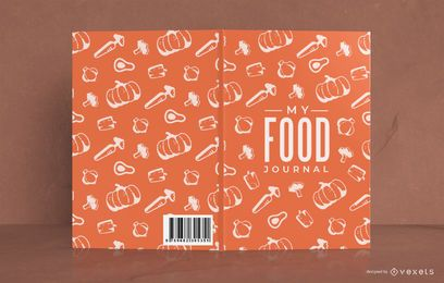 Diseño de portada de patrón de My Food Journal