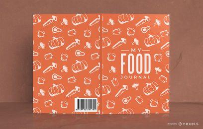 Meu design de capa de padrão de diário alimentar