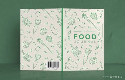 Design da capa do Doodle Food Journal