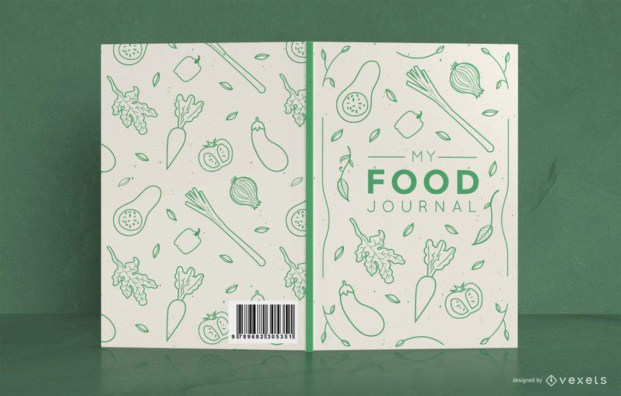 Diseño de portada de Doodle Food Journal