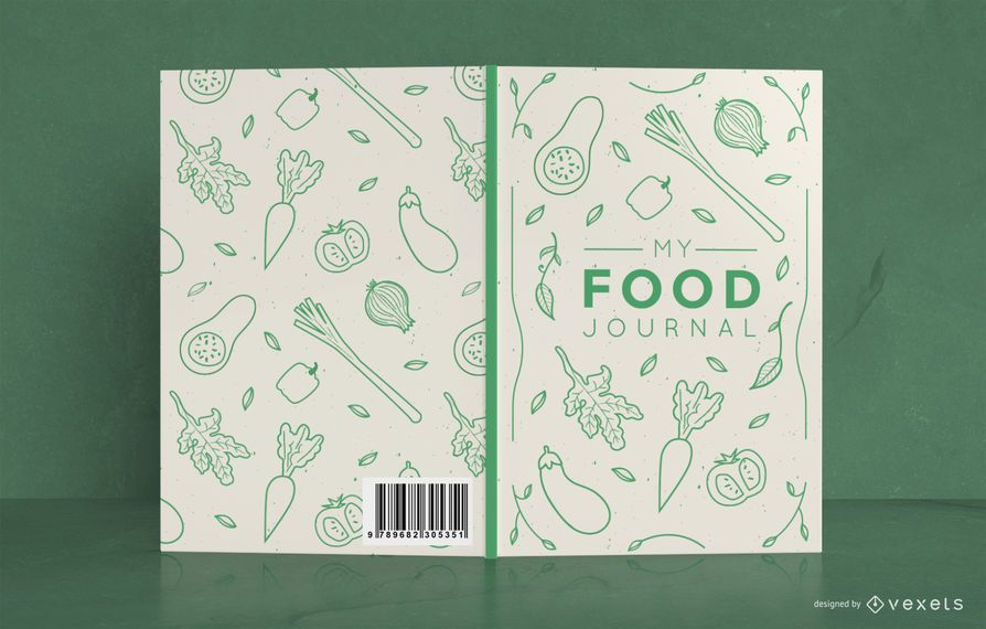 Doodle Food Journal Cover Design