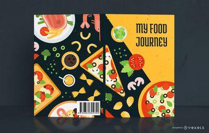 Meu design de capa de livro de viagem de comida