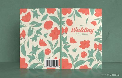 Floral Wedding Book Cover Design