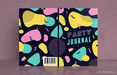 Design abstrato Design de capa de livro de festa