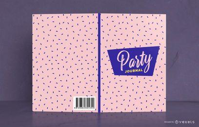 Design de capa de livro de padrão de diário de festa