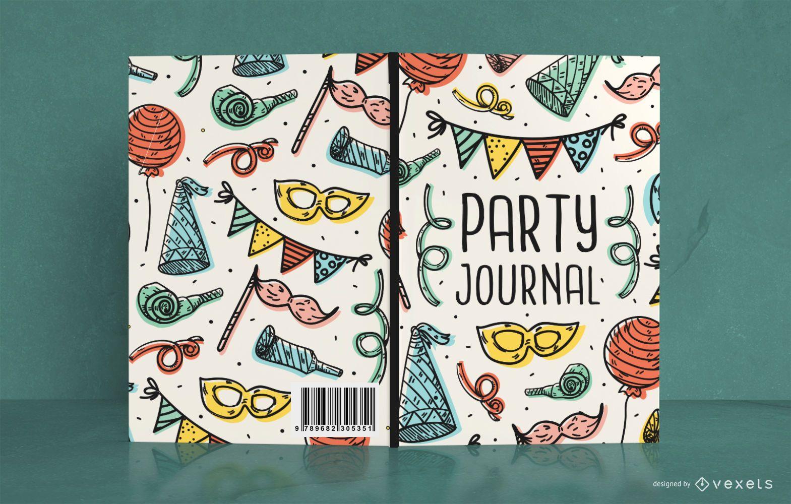 Dise?o de portada de libro Doodle Party