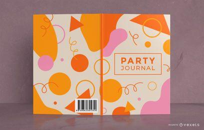 Design de capa de livro de jornal colorido partido