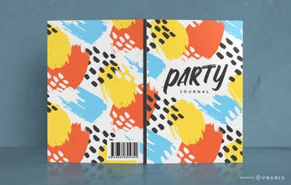 Colorful Abstract Party Book Cover Design
