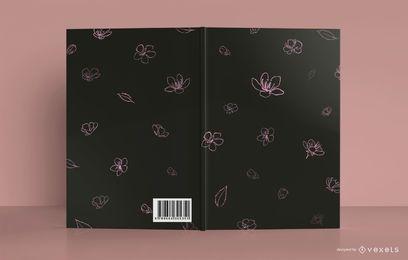 Diseño de portada de libro de meditación floral