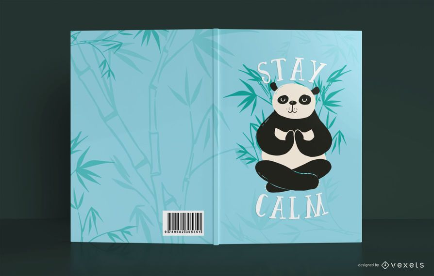 Fique calmo livro capa Design