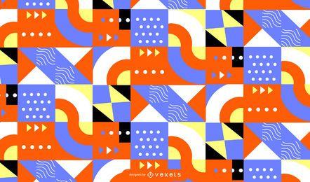 Abstrato geométrico padrão colorido