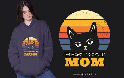 Melhor design de t-shirt para mamãe gato