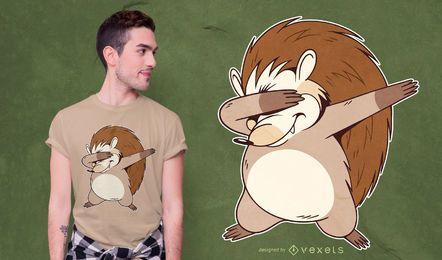 Diseño de camiseta Dabbing Hedgehog