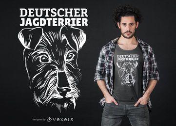Diseño de camiseta Deutscher Jagdterrier