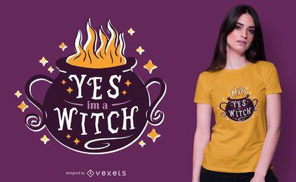 Eu sou o design de uma camiseta de bruxa