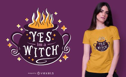 Soy un diseño de camiseta de bruja