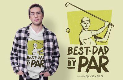 O melhor design do t-shirt do golfe do pai