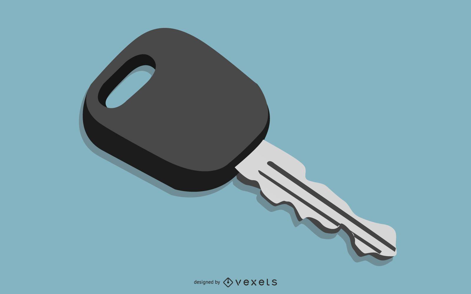 Dise?o de llave de coche 3D