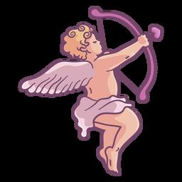 Apuntando al personaje de Cupido