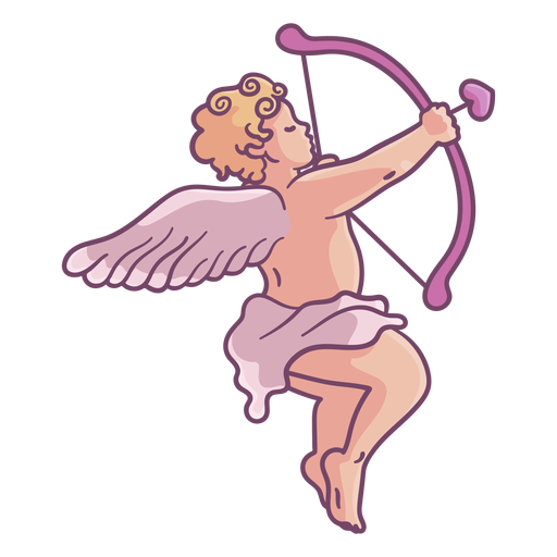 Aiming cupid character Transparent PNG