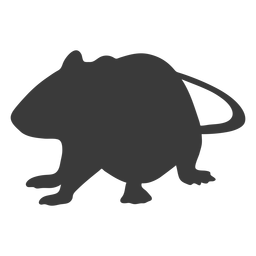 Silueta del mouse a cuatro patas