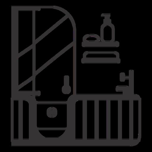 Bathtub black stroke Transparent PNG