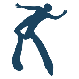 Person diving silhouette