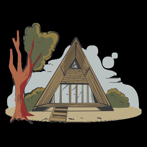 House bamboo made illustration