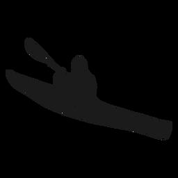Silhueta impressionante de caiaque