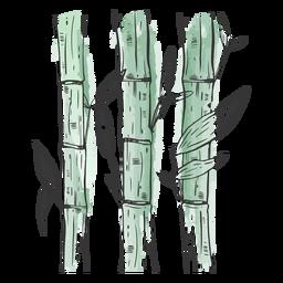 Bambus gezeichnet fantastisch