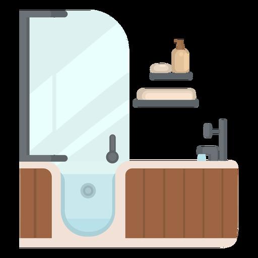 Bathroom bathtub flat Transparent PNG