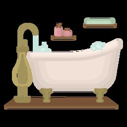 Piso de bañera burbujeante y elegante