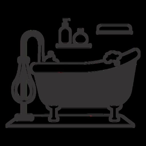 Silueta de bañera con clase burbujeante