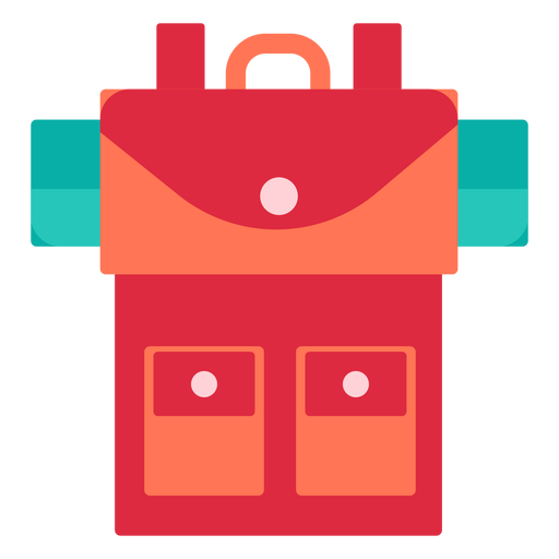 Camping backpack flat Transparent PNG