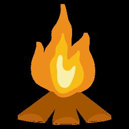 Camping bonfire flat