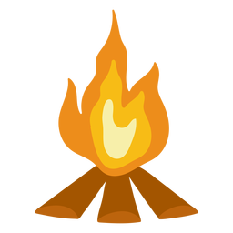 Camping Lagerfeuer flach
