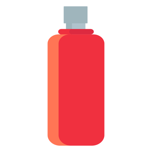 Camping water bottle flat Transparent PNG