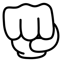 Cartoon hand fist