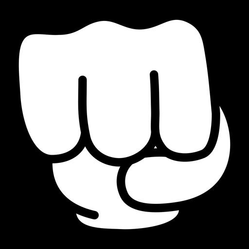 Cartoon hand fist