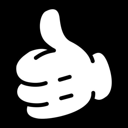 Cartoon hand thumb up