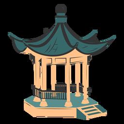 Arquitectura china coloreada