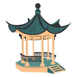 Chinese architecture colored
