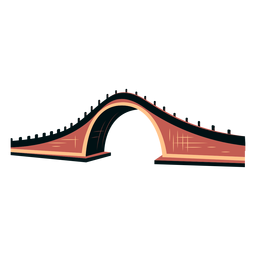 Chinese bridge vector