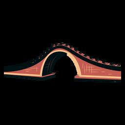 Vector de puente chino