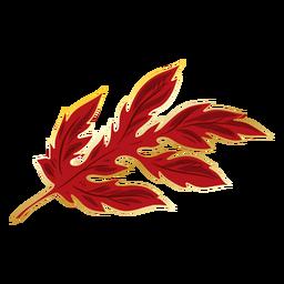 Chinese crysanthemum leaf red