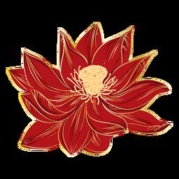 Flores de hibisco chino