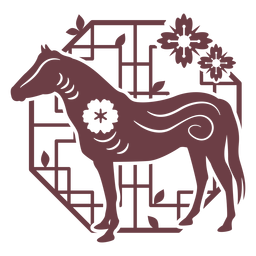 Chinese horoscope horse composition