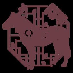 Composición del caballo del horóscopo chino
