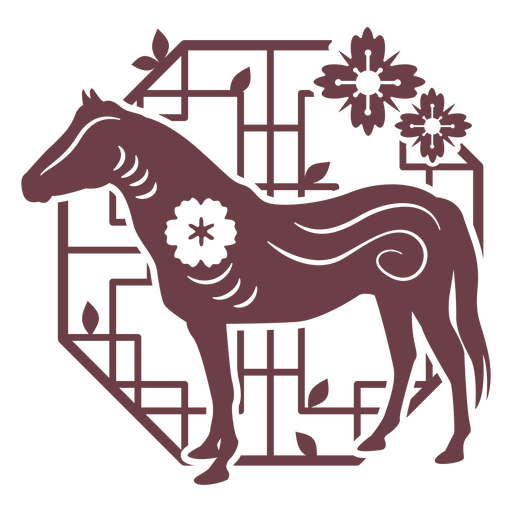 Chinese horoscope horse composition