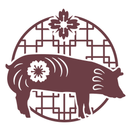 Chinese horoscope pig composition